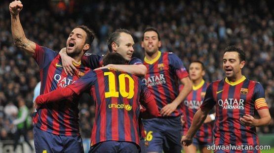 برشلونة وسان جيرمان وميونخ يقتربون من التأهل لربع النهائي بإنتصارات مستحقة
