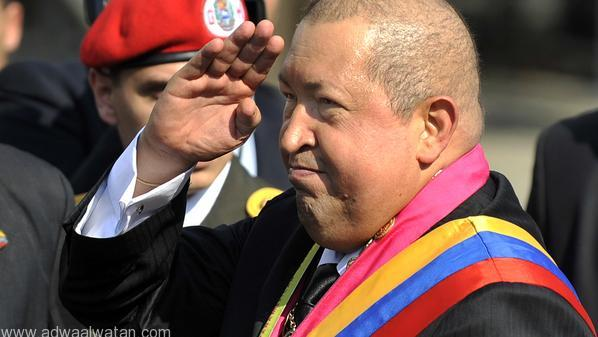 Venezuelan President Hugo Chavez salutes during a ceremony commemorating the anniversary of the death of Venezuelan Liberator Simon Bolivar in Caracas on December 17, 2011.  AFP  PHOTO/JUAN BARRETO (Photo credit should read JUAN BARRETO/AFP/Getty Images)