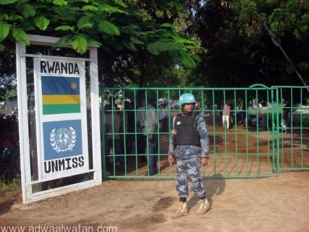 معسكر لبعثة الأمم المتحدة لحفظ السلام في جوبا يوم 11 يوليو تموز 2016 - صورة لرويترز من بعثة الأمم المتحدة لحفظ السلام في جنوب السودان للاستخدام التحريري فقط