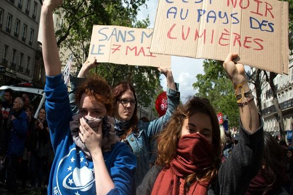 مظاهرات احتجاجية على مشروع قانون العمل الجديد بفرنسا