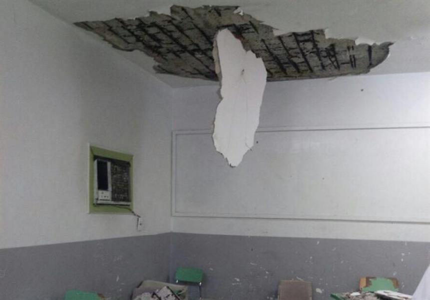 القصيران : صور إنهيار سقف مدرسة الإمام النسائي المتوسطة بجدة قديمة