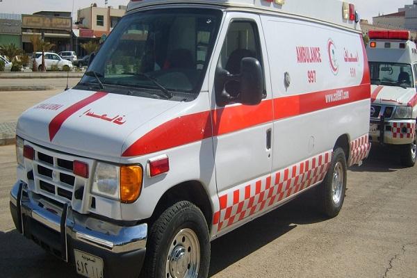 الهلال الأحمر يباشر حالة دهس لطفل بحاوية الباحة
