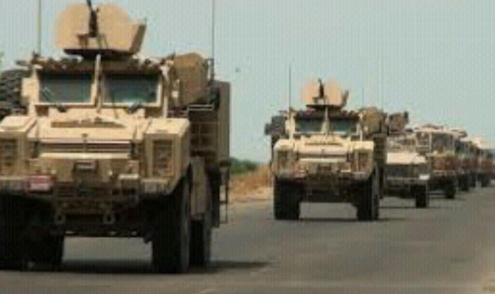 """الجيش الوطني اليمني يؤمن طريق """" اليتمه – البقع """"  بدعم من طائرات التحالف"""