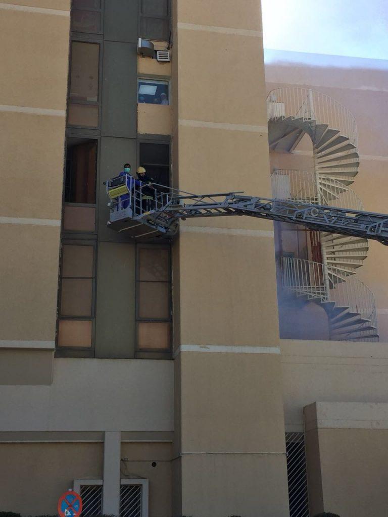 عشر إصابات في فرضية حريق وهمي بمستشفى اليمامة بالرياض