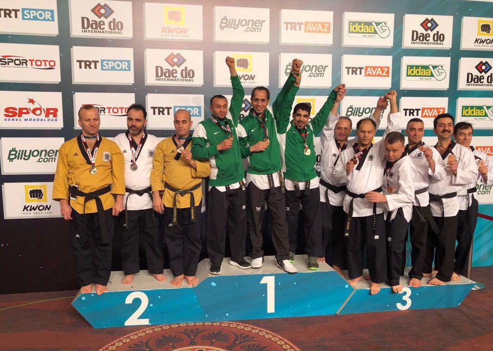 """""""أبطال تايكوندو السعودية"""" يخطفون الذهب الدولي في تركيا"""