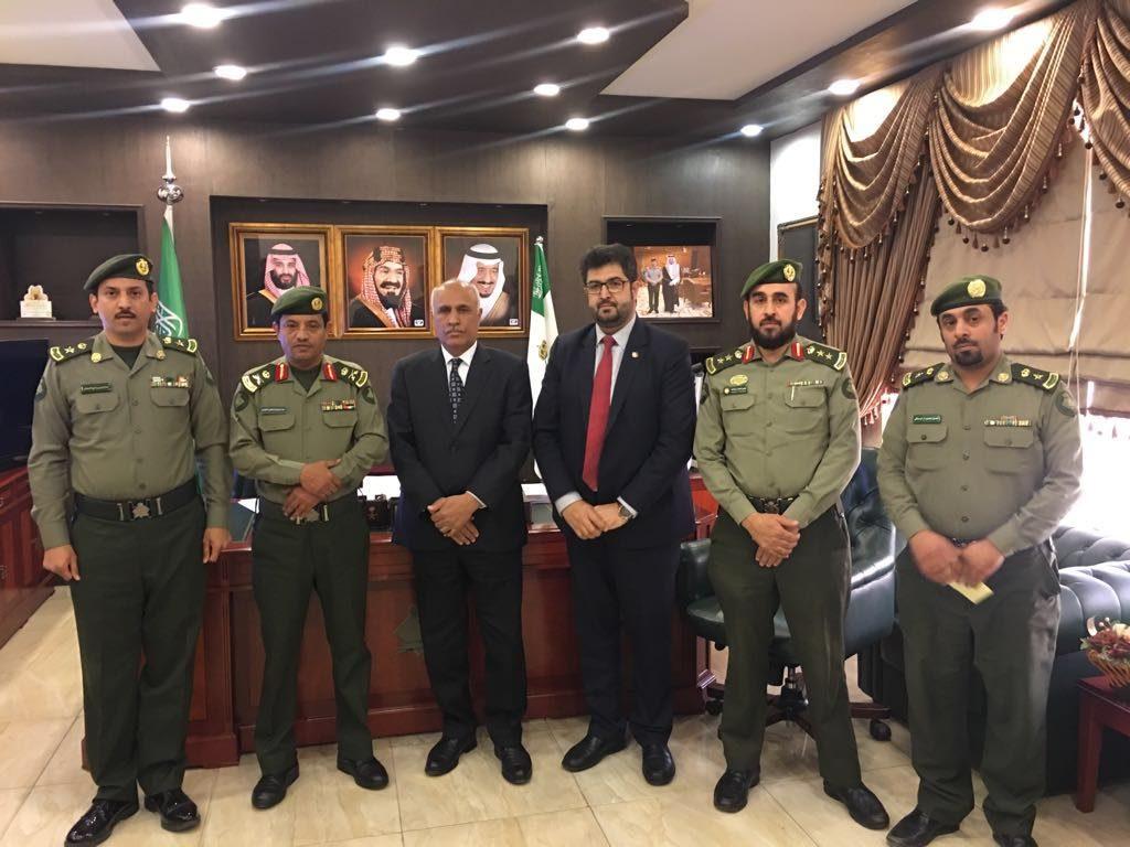 """سفير جمهورية إفغانستان الإسلامية في ضيافة """"جوازات عسير"""""""