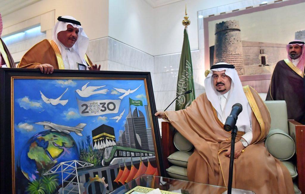 """الأمير""""فيصل بن بندر"""" يستقبل الطلاب والمعلمين المتميزين من منسوبي تعليم الرياض"""