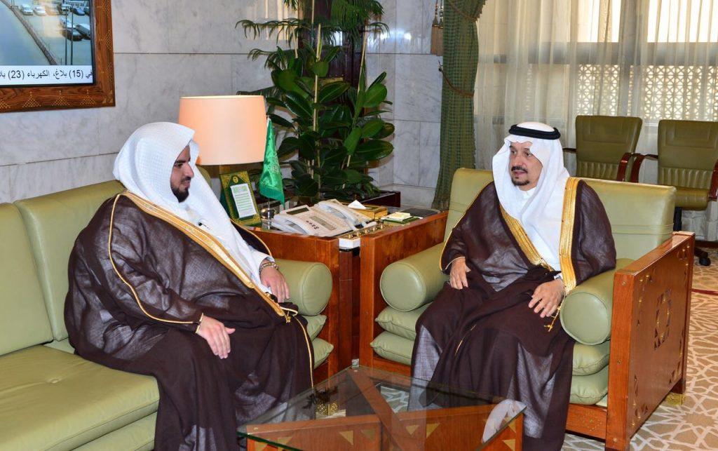 أمير منطقة الرياض وسمو نائب أمير منطقة الرياض يستقبلان رئيس المحكمة التجارية