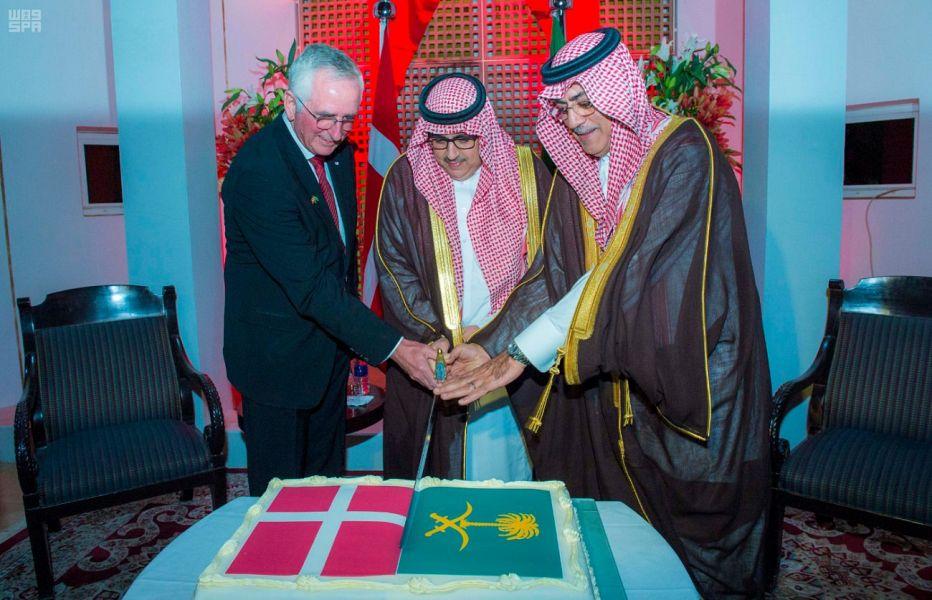 وكيل إمارة الرياض يحضر حفل سفارة مملكة الدنمارك