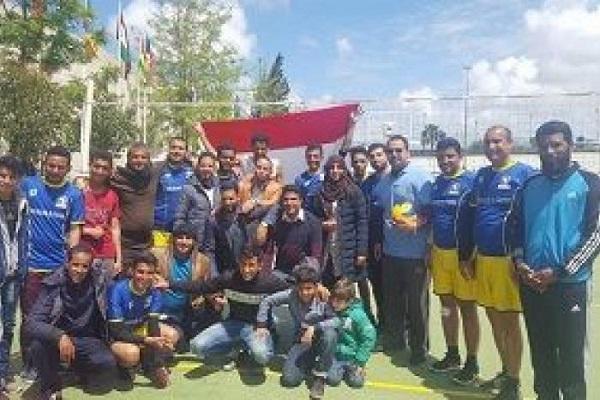 اليمن يحصد بطولة كرة الطائرة في دوري الطلاب بالمغرب