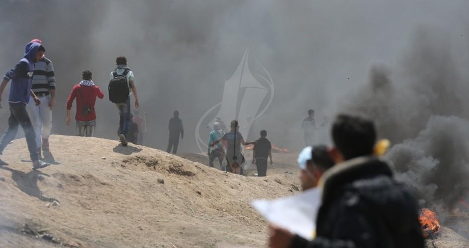 الاحتلال الإسرائيلي يستدعي قوات خاصة لمواجهة سيول المتظاهرين في غزة