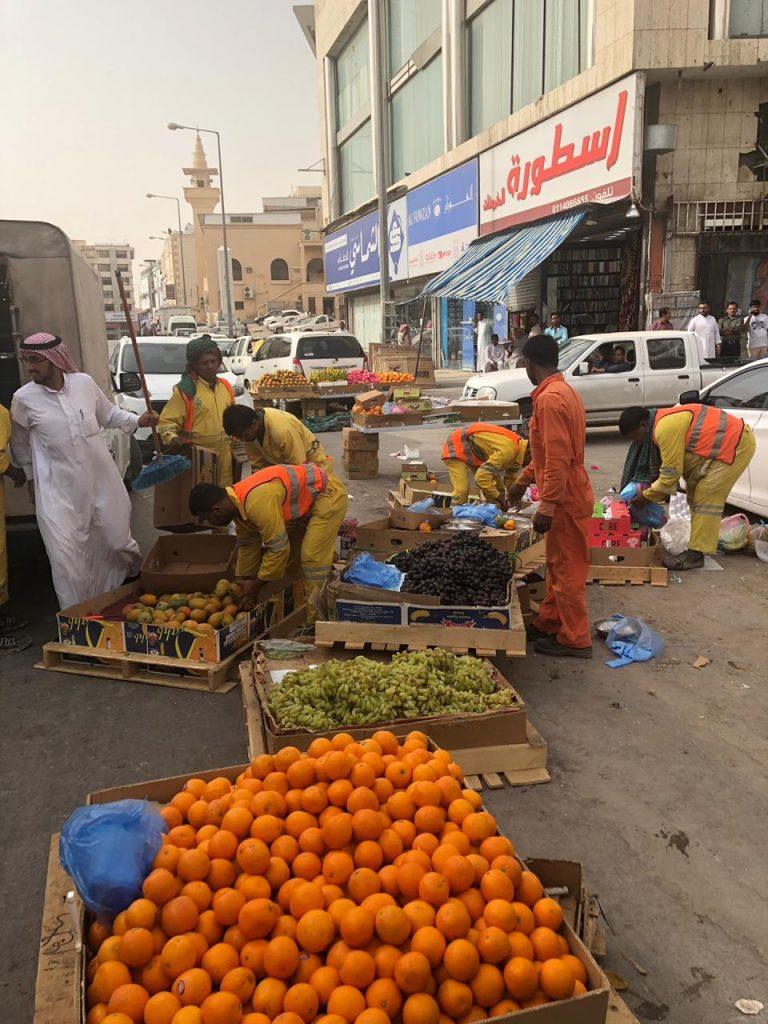 أمانة الرياض تصادر 18 طناً من الفاكهة والخضار