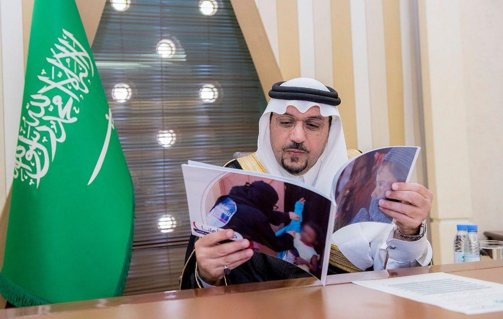 """الأمير فيصل بن مشعل يستقبل فريق سخاء التطوعي ويطلع على مبادرة """"خيرنا لأهلنا"""""""
