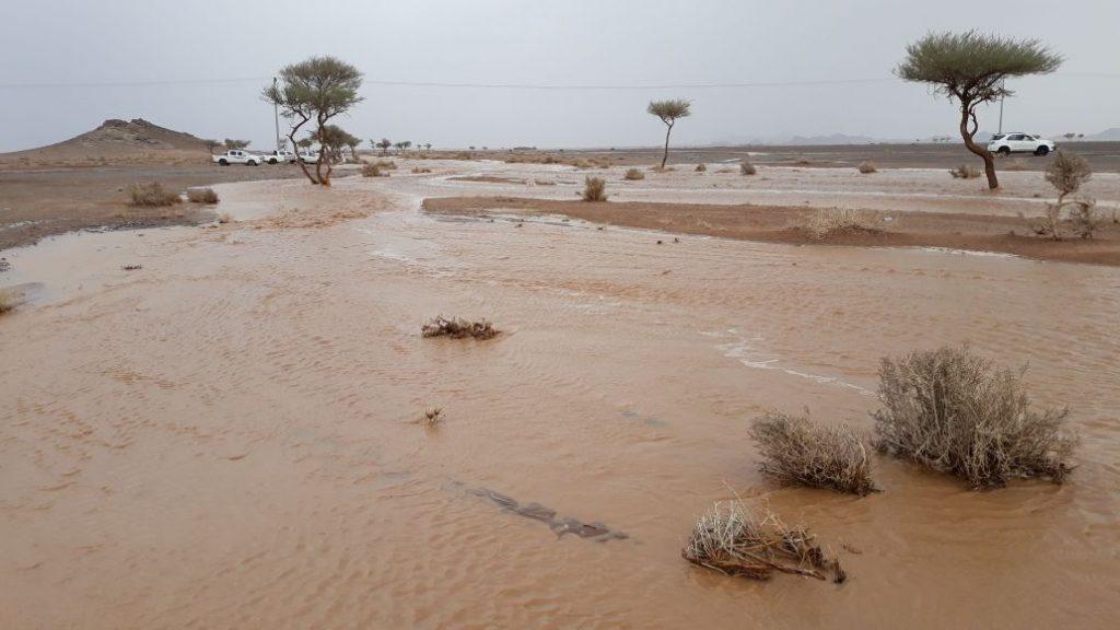بالصور.. هطول أمطار غزيرة على قرى حائل