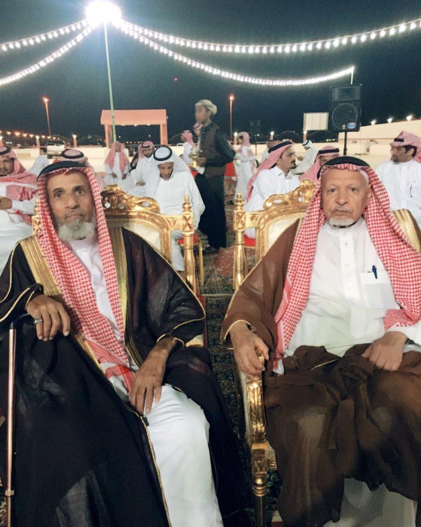 الشيخ ابن جنيّح الشدادي يحتفل بزواج حفيده بندر