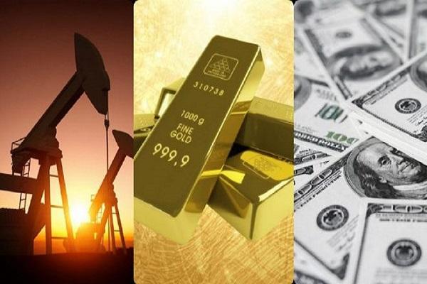 انخفاض أسعار النفط والذهب وصعود سعر الدولار