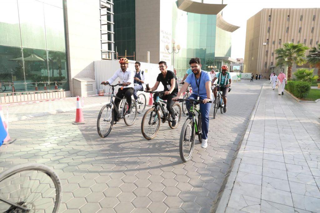 """"""" سعود الطبية"""" تحارب السمنة بـ""""الدراجات الهوائية"""""""