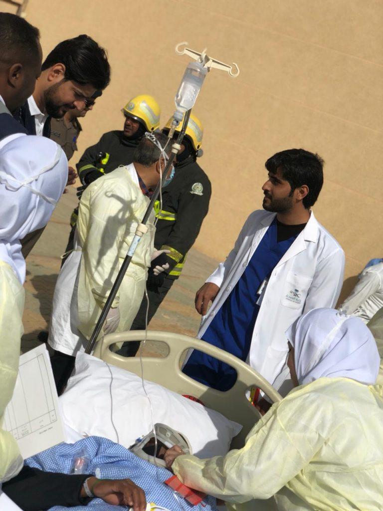 تجربة فرضية انهيار مبنى بمستشفى ضرية