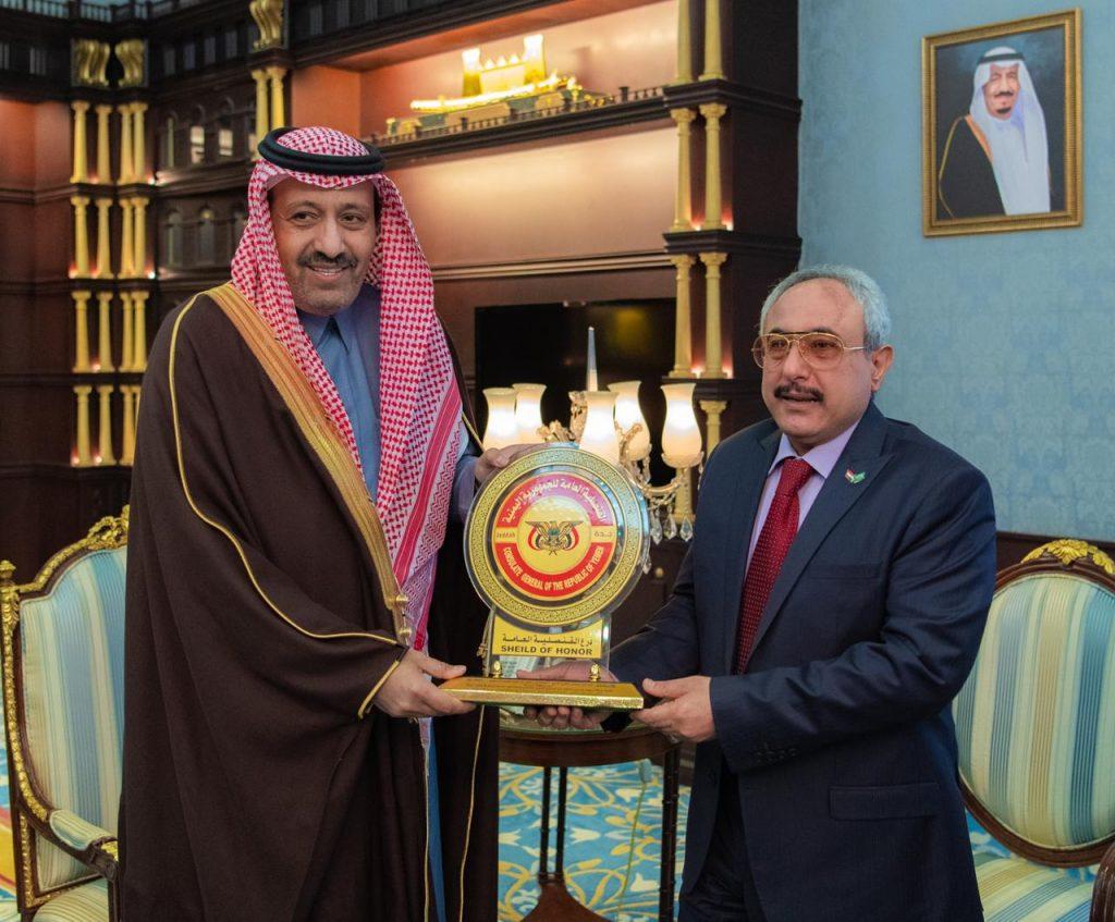 الأمير حسام بن سعود يستقبل القنصل العام لجمهورية اليمن الشقيقة بجدة