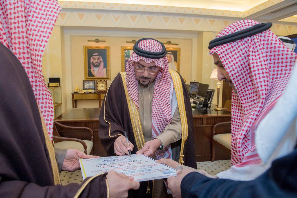 أمير القصيم يستقبل رئيس وأعضاء مجلس إدارة نادي الحزم