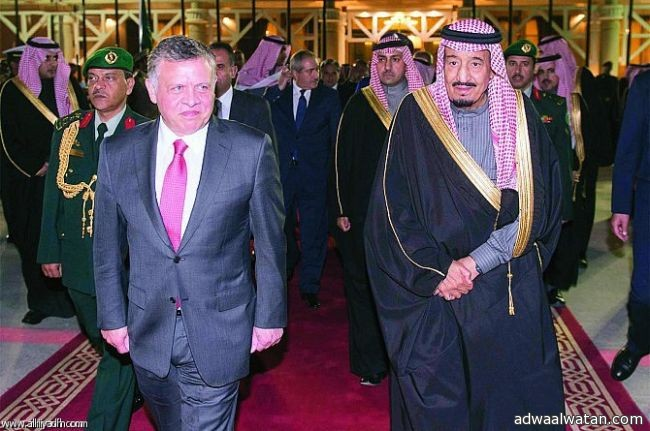 خادم الحرمين يستقبل الملك عبدالله الثاني ويبحثان آخر المستجدات عربياً وإقليمياً