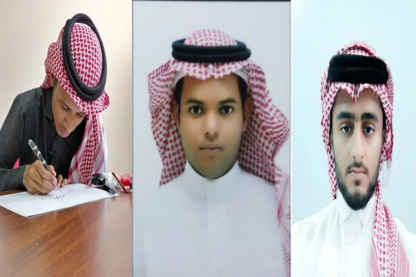 ثلاثة طلاب يحققون مراكز متقدمة في مسابقة الخط العربي بجازان