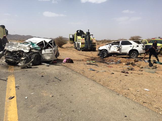 وفاة وأربع إصابات بحادث سير بعقيق الباحة
